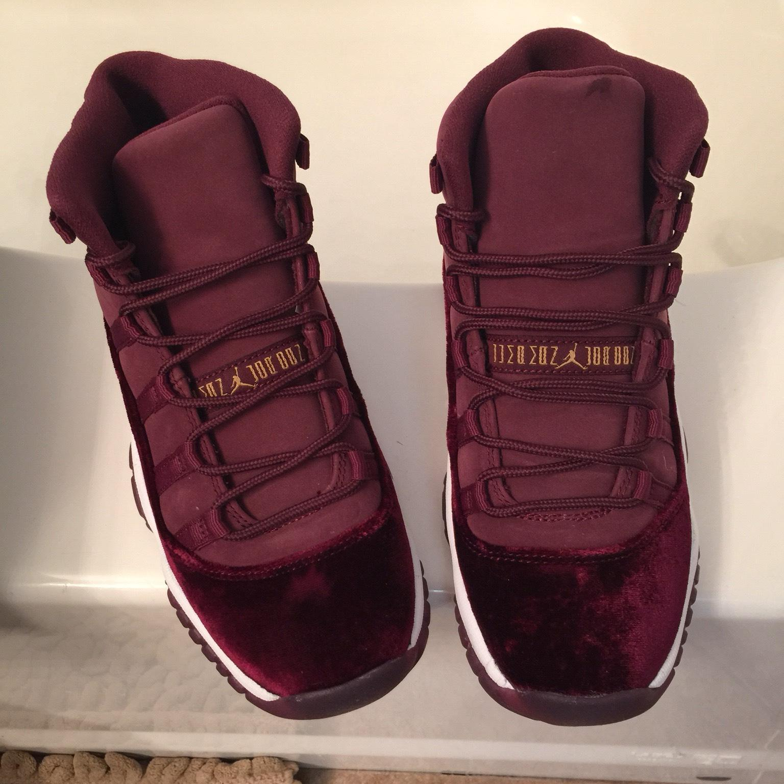 the best attitude 846be 2dc43 ... red b0645 3baf8 shop air jordan maroon retro 11s rl gg velvet sneakers  size us 6.5 regular m b tradesy ...