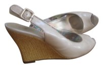 AK Anne Klein Cream Wedges