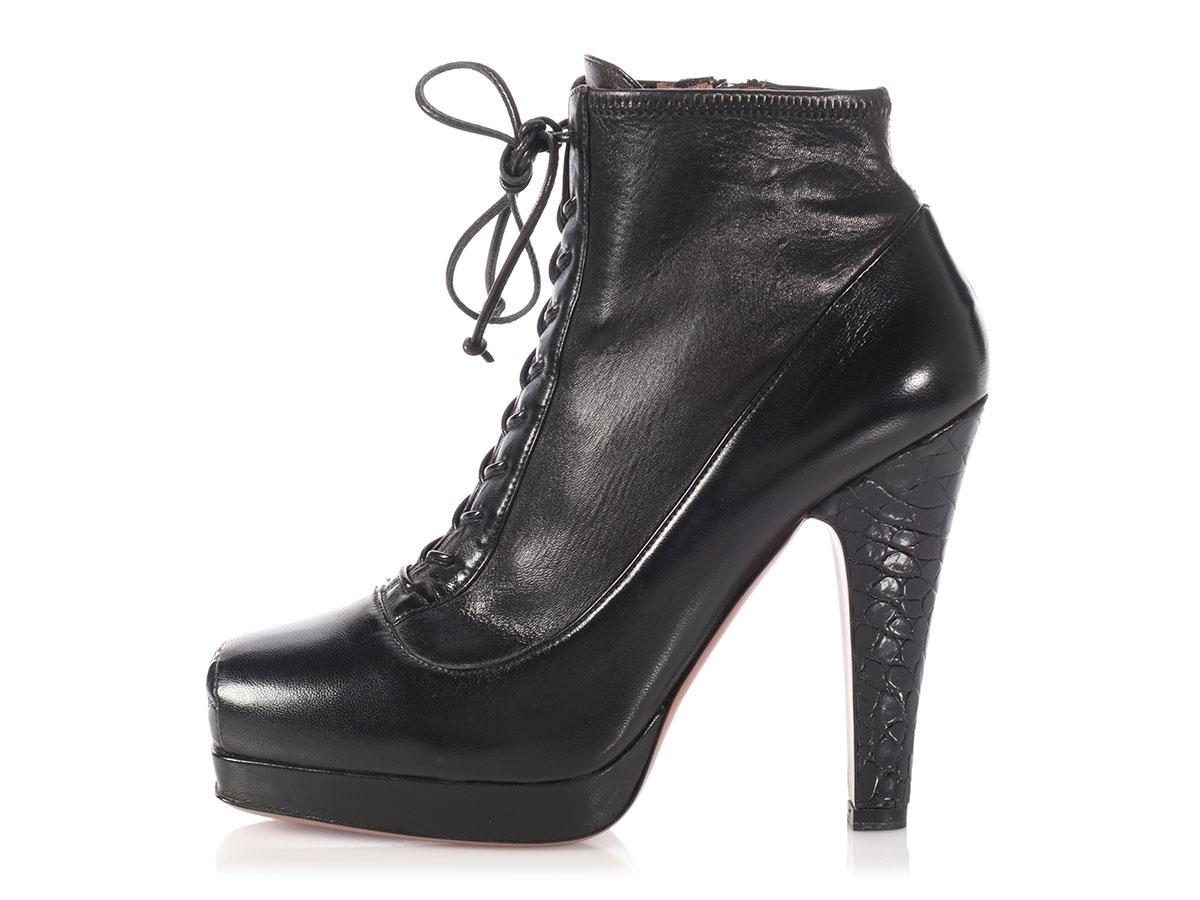 visa payment online Alaïa Embossed Leather Booties big sale cheap online cheap sale 2015 very cheap TkLcM