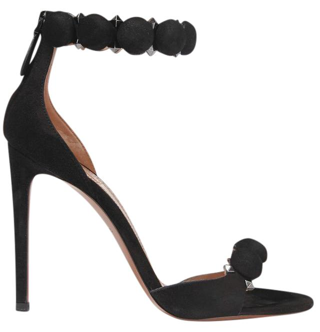 ALAÏA Black New Studded Suede Sandals - 4.5 Inches/110mm Pumps Size US 7.5 Regular (M, B)