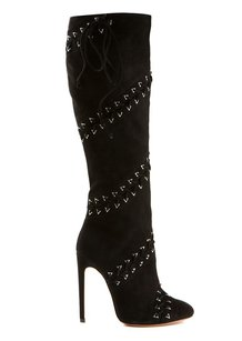 ALAA Luxury Italian Lace Suede black Boots
