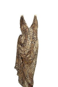 Beige Maxi Dress by Alberta Ferretti Maxi