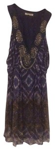 Alberto Makali Abstract Print Beaded Sequin Dress