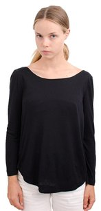A.L.C. Alc Scoop Neck Criss Cross Modal Open 34 Sleeved Top Black