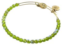Alex and Ani Alex And Ani Rock Candy Moss Green Beads Ewb Expandable Bracelet Gold-tone
