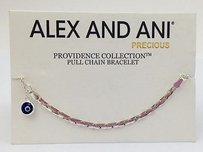 Alex and Ani Alex And Ani Providence Collection Bracelet Evil Eye Cobra Chain Silver