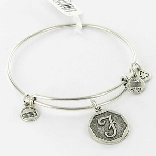 Alex and Ani Alex Ani Bracelet A13eb14fs Octagon Initial F Expandable Russian Silver