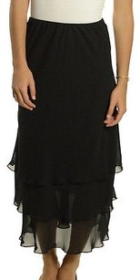 Alex Evenings Chiffon Skirt Black