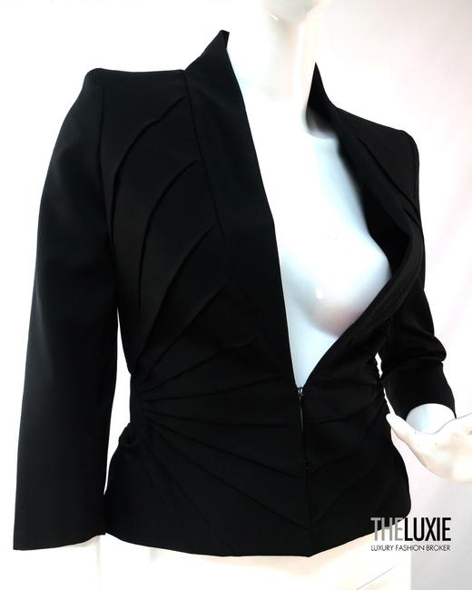 high-quality Alexander McQueen Alexander Mcqueen 0 Pleated Tailoring Cropped Short Fitted Blazer