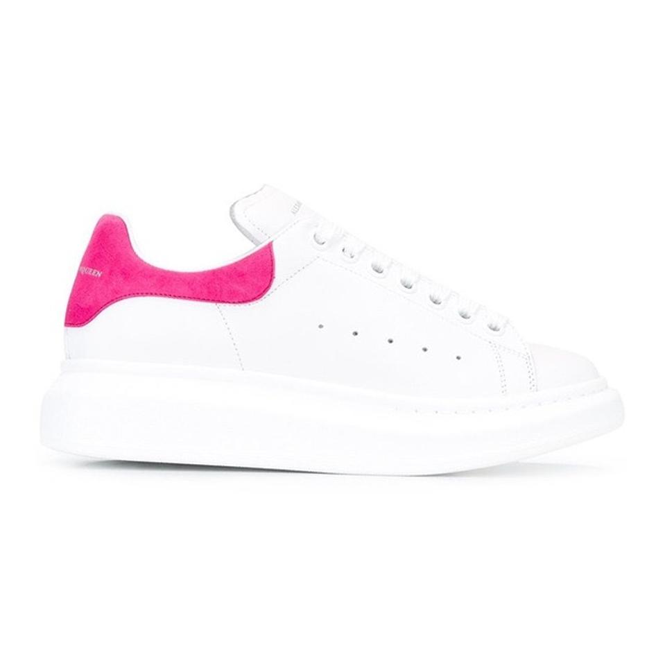 Leather Sneaker top Women's Oversized Platform Trainers Sneakers Pink Alexander McQueen Low qOwtw0