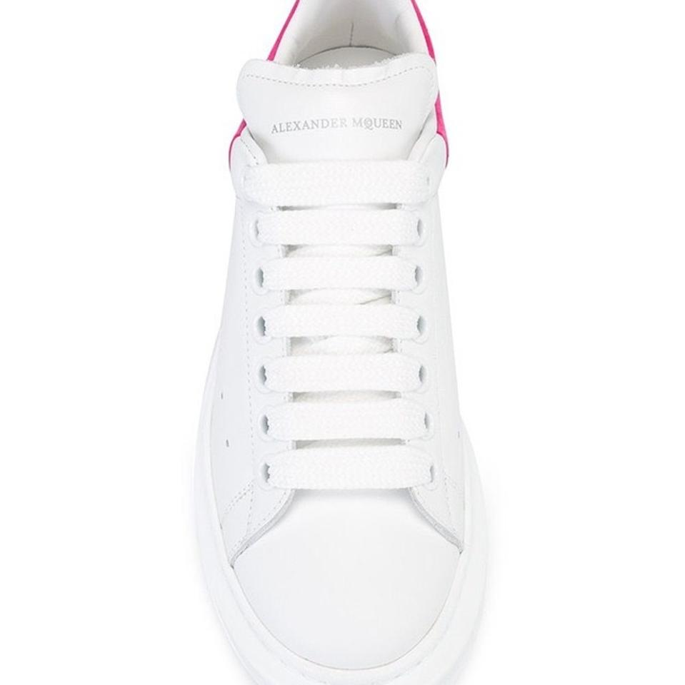 Alexander Low Oversized top Leather Women's Platform McQueen Sneakers Sneaker Trainers Pink rOwrqR