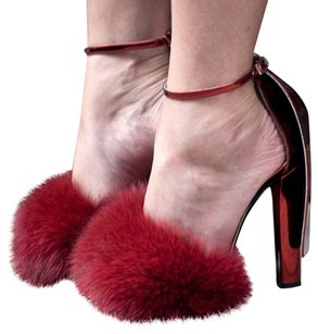 Alexander Wang Fur red Sandals