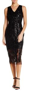 Alexia Admor V-neck Sequin Midi Dress