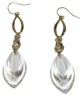 Alexis Bittar NEW! ALEXIS BITTAR DECO BEETLE CLEAR LUCITE DROP DANGLE EARRINGS