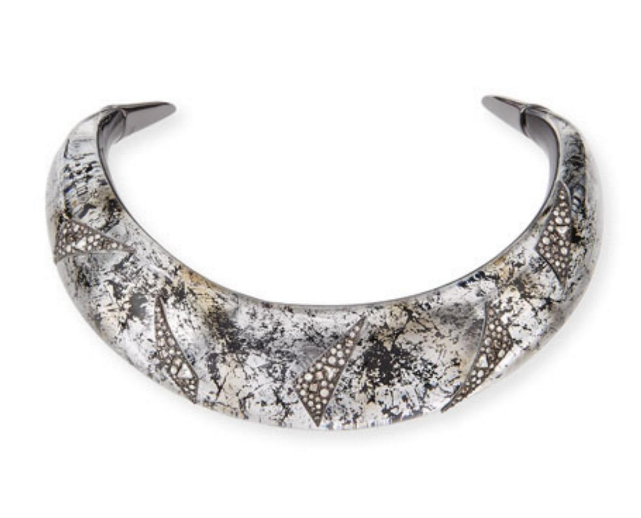 Alexis Bittar Liquid Medium Collar Necklace with Crystal Shard Detail nXQ4Ot