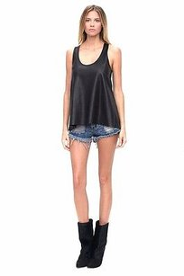 Alexis Perforated Leather Racer Cypress 220960aj Top Black