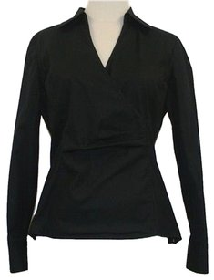Alfani 8p Collared V Top Black