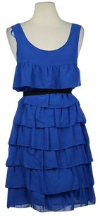 Ali Ro Womens Tiered Sheath Above Knee Casual Sleeveless Lined Dress