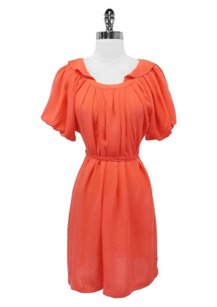 Ali Ro short dress coral Pleated Puffy on Tradesy