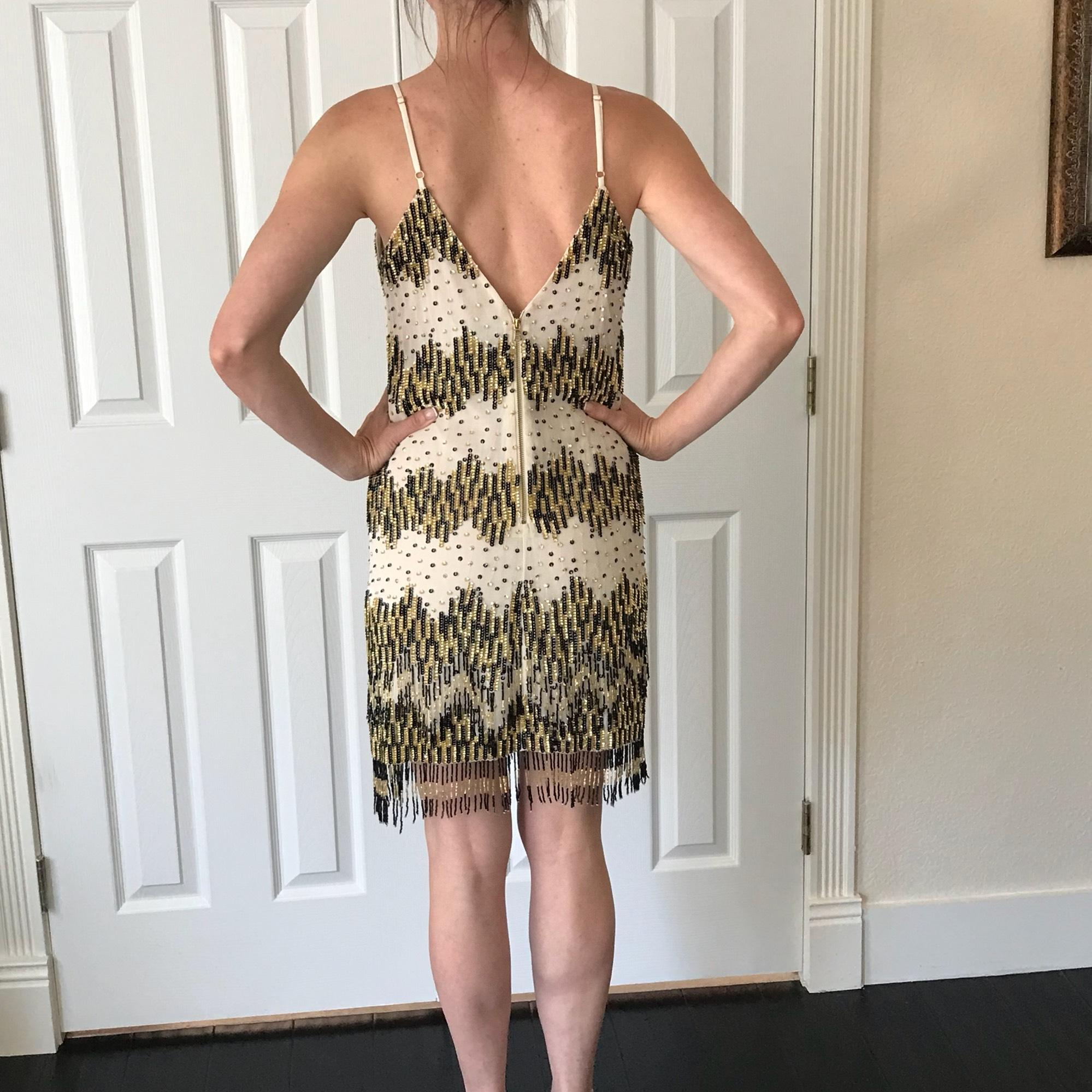 Black White and Gold Cocktail Dresses