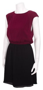 Alice + Olivia Black Burgundy Dress