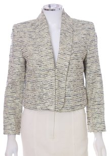 Alice + Olivia Gold Cotton Tweed 3/4 Sleeve Multi Blazer