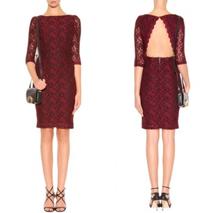 Alice + Olivia Keyhole Lace Cut-out Date Embroidered Dress