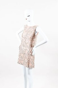 Alice + Olivia short dress Pink Silver on Tradesy