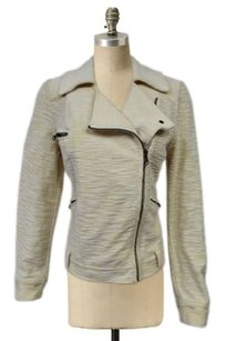 Allihop Anthropologie Casual Scooter Cotton Moto Light Yellow Jacket