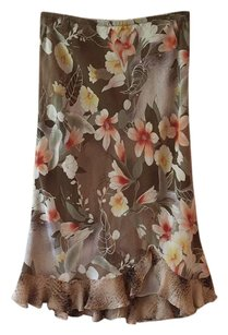 Allison Taylor Skirt Brown, peach, yellow