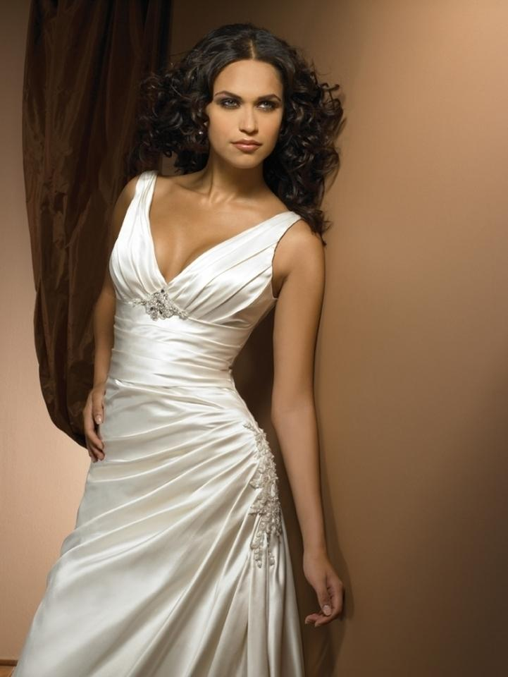 Allure White Satin Dress
