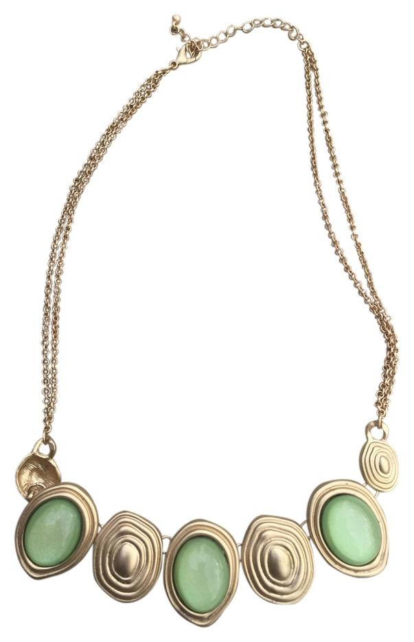 Altaru0027d State Costume Jewelry Statement Necklace ...  sc 1 st  Tradesy & Altaru0027d State Gold and Green Costume Statement Necklace - Tradesy