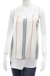 Altuzarra Cream White Blue Top Multi-Color