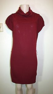 Alyn Paige short dress Red Burgundy Cowl Neck on Tradesy