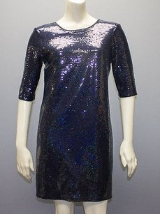 Amanda Uprichard short dress Blue Sequin on Tradesy