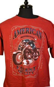 American Motorcycle T Shirt Red