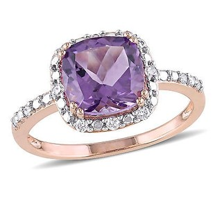 Amour 10k Rose Gold Amethyst And 110 Ct Tdw Diamond Ring G-h I2-i3
