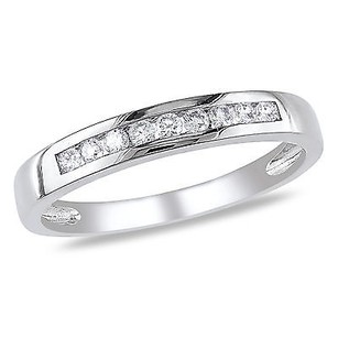Amour 10k White Gold 15 Ct Tdw Channel-set Diamond Semi-eternity Ring H-i I2-i3