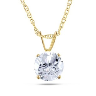 Amour 10k Yellow Gold Cubic-zirconia Fashion Pendant 17 Inch Necklace
