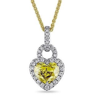 Amour 14k Gold 1 13 Ct Tdw Yellow White Diamond Pendant Necklace G-h Si1-si2 17