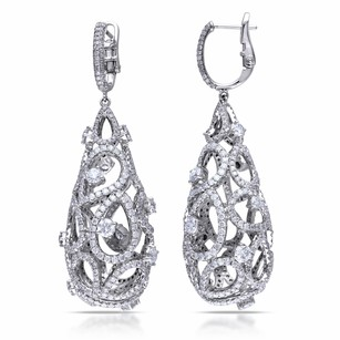 Amour Amour 14k White Gold 14 Ct Tdw Diamond Vintage Drop Earrings G-h Si1-si2