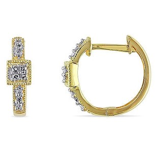 Amour Amour 14k Yellow Gold 110 Ct Tdw Diamond Cuff Hoop Earrings G-h I1-i2