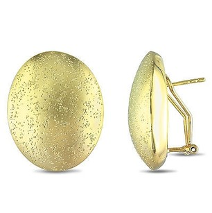 Amour Amour 18k Yellow Goldplated With Matte And Smarkling Finish Oval Earrings
