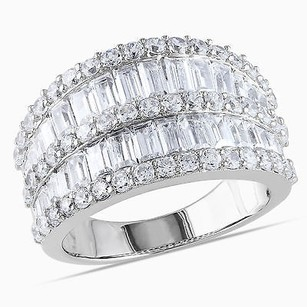 Amour Silver Ct Tgw Baguette Cubic Zirconia Fashion Eternity Ring