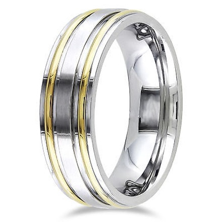 Amour Stainless Steel Band Wedding Band Ring With Ipg Lines