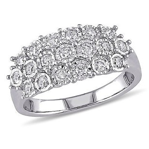 Amour Sterling Silver 12 Ct Tdw Diamond Anniversary Ring