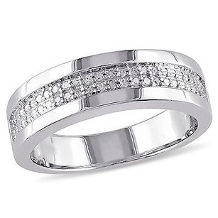 Amour Sterling Silver Mens 110 Ct Tdw Diamond Ring G-h I2-i3