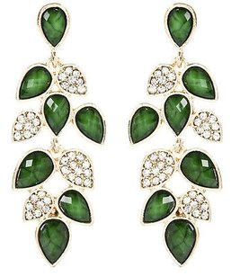 Amrita Singh Amrita Singh Milly Evergreen Resin Crystal Earrings Erc 1655