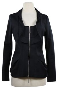 Andy The-Anh Andy The Ahnh Womens Navy Basic Coat Outer Black Jacket