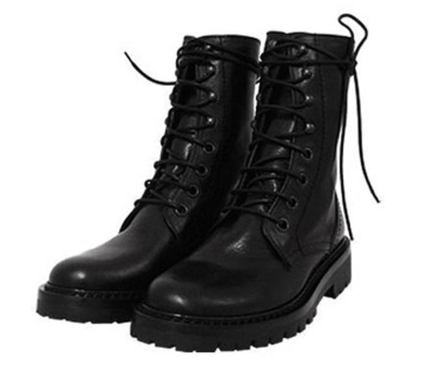 Ann Demeulemeester Round-Toe Combat Boots with paypal sale online outlet tumblr sale free shipping discount pre order wCzkoZ2KFg
